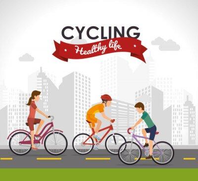 Naklejka projektowanie styl życia rower