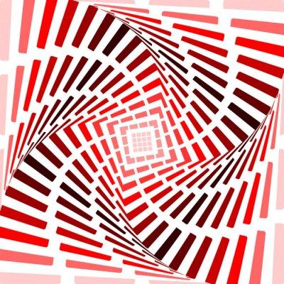 Naklejka Projektujemy czerwonym tle zakrętas iluzję ruchu. Listwa do streszczenie
