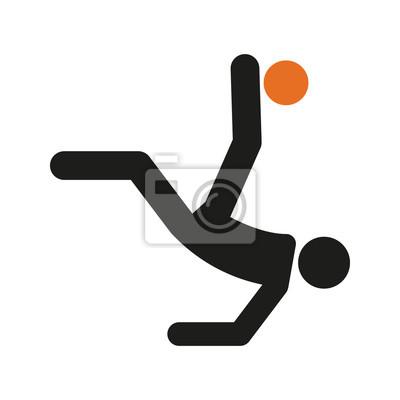 Prosta zasięrzutna kopnięcia piłki nożnej sporta postaci wektoru sylwetki ilustracja