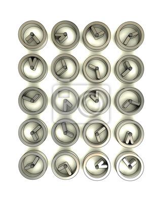 prostokątne ściany wykonane ze stali metaliczny zegarków