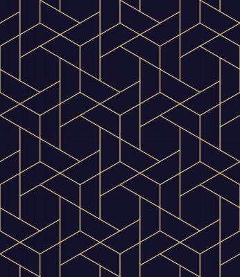 Naklejka prosty bezszwowych geometryczne siatki wektora deseń