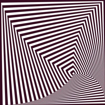 Naklejka Prosty streszczenie tle paski piramidalnej. złudzenie optyczne t