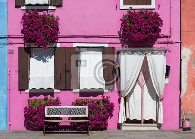 Przed domem na wyspie Burano