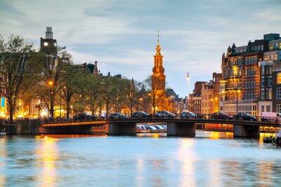 Naklejka Przegląd Amsterdamie z Munttoren