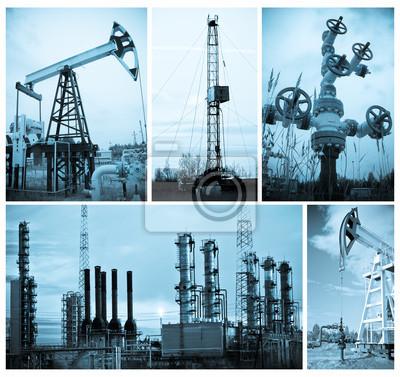 Przemysł naftowy. Wydobywanie ropy naftowej.