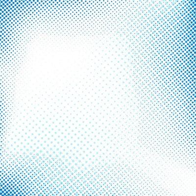 Naklejka Przerywana streszczenie niebieskim tle retro