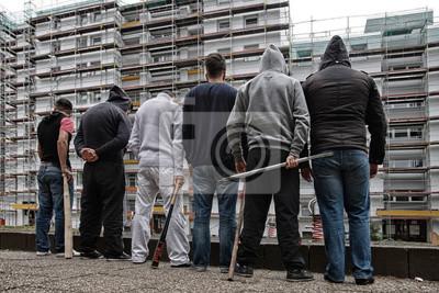 Naklejka Przestępczość nieletnich, chód młodzieży