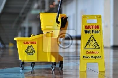 Przestroga mokrej podłodze
