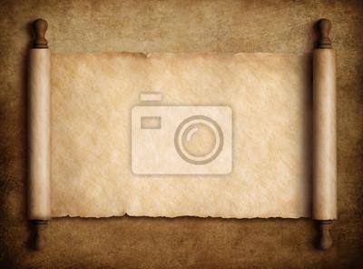 Naklejka przewiń pergamin na stary papier 3d ilustracji