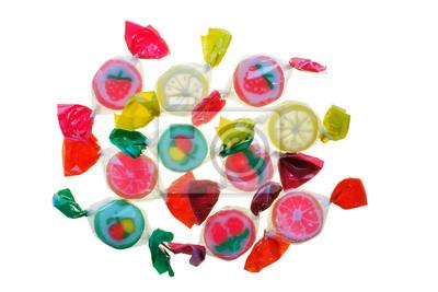Przezroczyste cukierki owocowe