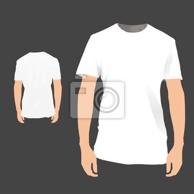 Przód / tył biały shirt. Ilustracji wektorowych.