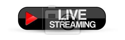 Naklejka Przycisk Streaming na żywo