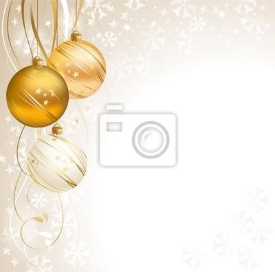 przystojny tło Boże Narodzenie z trzema kulkami