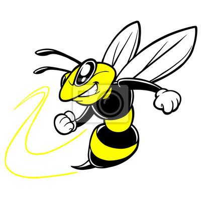 Pszczoła maskotka drużyny