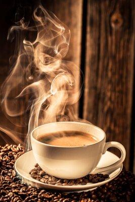 Naklejka Puchar aromat kawy z palonych ziaren