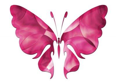 Naklejka Purple Butterfly / Schöner Schmetterling
