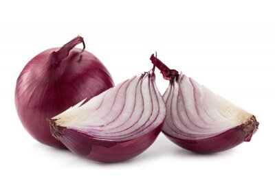 Naklejka Purpurowy cebula na białym