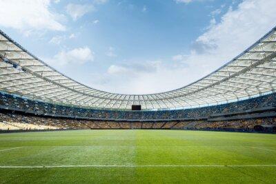 Naklejka puste boisko do piłki nożnej