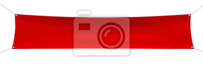 Naklejka Puste czerwony sztandar z narożnikami lin