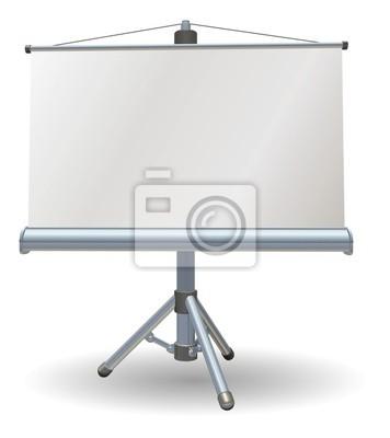 Pusty ekran rolki prezentacji lub projektor