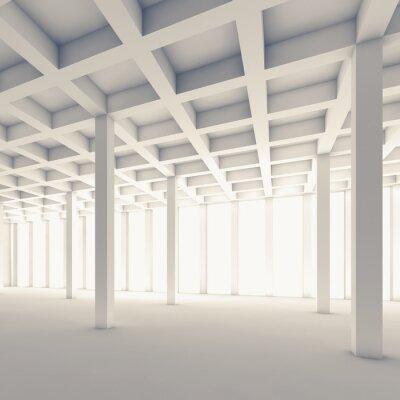 Naklejka Pusty pokój abstrakcyjne, plac 3d ilustracji