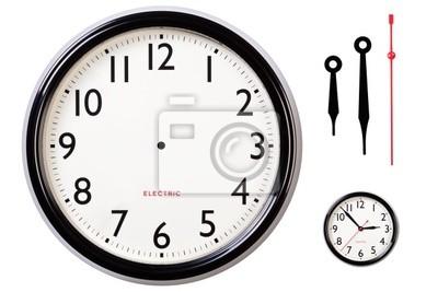 Naklejka Pusty zegar twarz i ręce