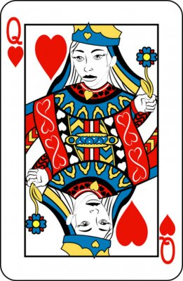 Queen of Hearts z talii kart do gry