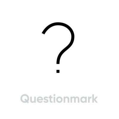 Question mark sign in flat design. Editable vector stroke. Single pictogram. Asking questions.