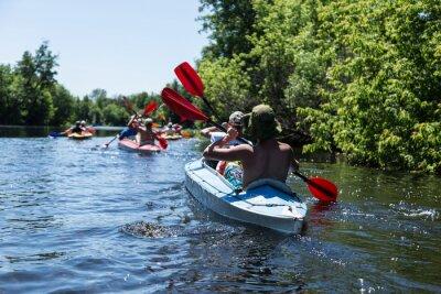 Naklejka Rafting na rzece Vorskla.