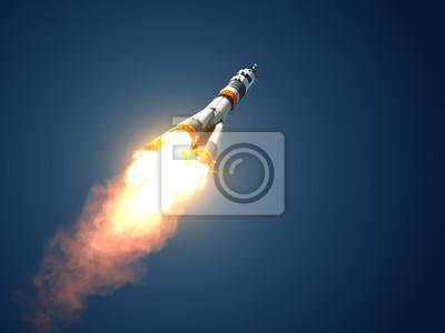 """Rakieta nośna """"Sojuz-FG"""" startuje"""