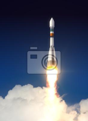 """Rakieta nośna """"Sojuz-Fregat"""" startuje"""