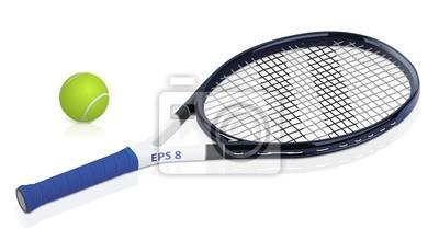 Naklejka rakieta tenisowa