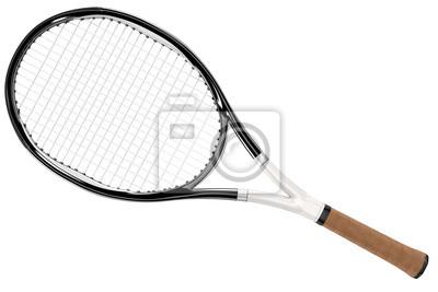 Naklejka Rakieta tenisowa Black and White