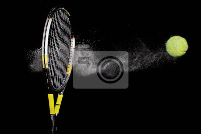 Naklejka Rakieta tenisowa i piłka