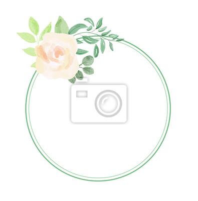 Ramki kwiatu akwarela