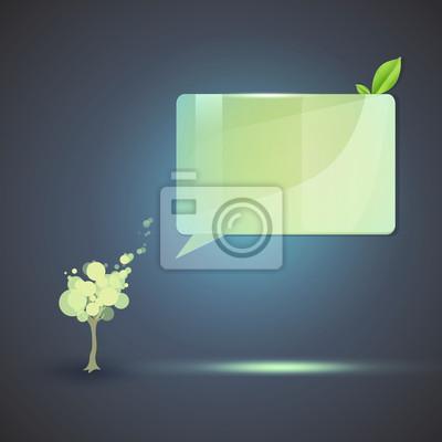 Ramy Szkło z drzewa rozmawia. Ilustracji wektorowych.