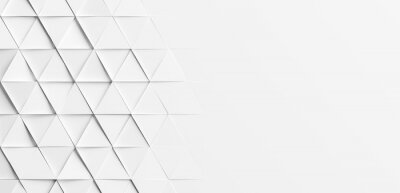 Random rotated white triangles background wallpaper banner with copy space