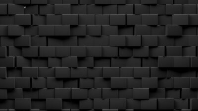 Random shifted  black cube boxes block background wallpaper