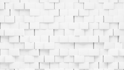Random shifted  white cube boxes block background wallpaper