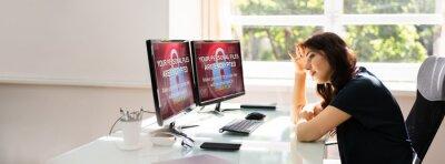 Naklejka Ransomware Cyber Attack