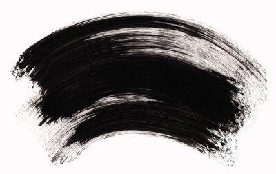 Realistyczne czarna szczotka skok tekstury. Tusz farby ręcznie ilustracji, samodzielnie na białym tle.