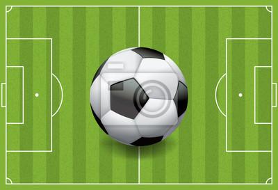 Realistyczne Piłka nożna - Piłka nożna na pole teksturą