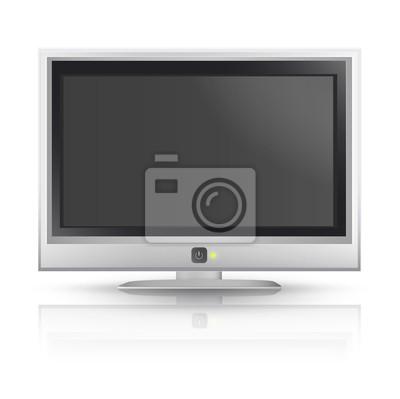 Realistyczne TV samodzielnie na białym tle. Vector design.