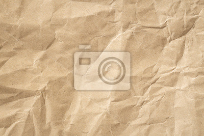 Naklejka Recycle brown paper crumpled texture, Old paper surface for background.
