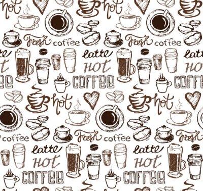 Naklejka Ręcznie rysowane doodle kawy ilustracji