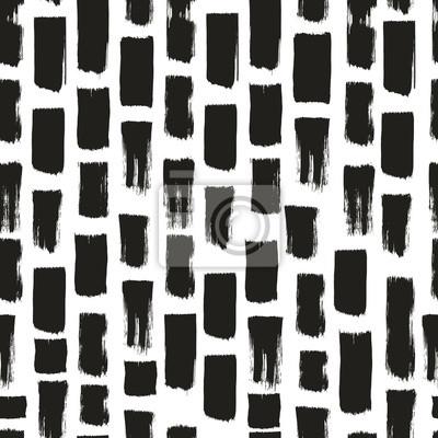 Ręcznie rysowane pędzlem wzór. Odręczne tło monochromatyczne.