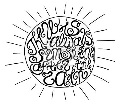 """Ręcznie rysowane typografia plakat. Inspirujący cytat """"Nie ma Alwa"""