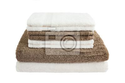 Ręczniki na białym tle