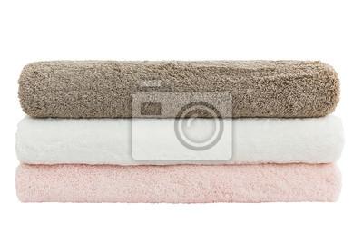 Ręczniki na białym tle. Odizolowany