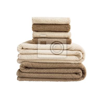 Ręczniki wyizolowanych nad białym